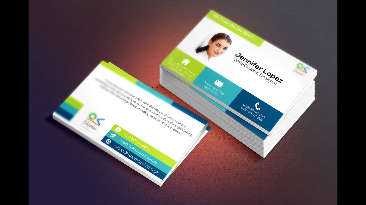 How To Create Your Own Business Card From Scratch In Illustrator With Mockup Using Photo