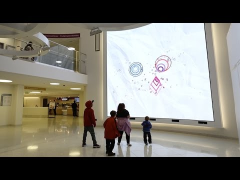 Interactive Media Wall at Boston Children's Hospital