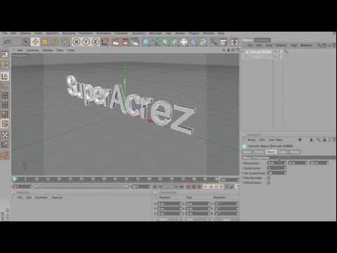 How To Make 3D Text With Cinema 4D