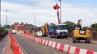 Burton Bridge closure; Day One
