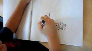 Drawing New York City by a 4-years old pre-school boy