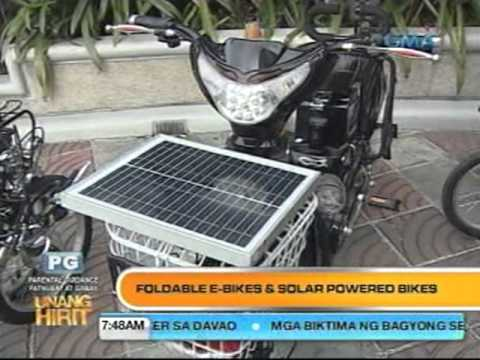 Folding e-bike and Solar powered E-bikes