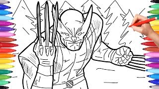X-Men Wolverine Coloring Pages | Marvel Superheroes Coloring Pages  for Kids | How to Draw Wolverine