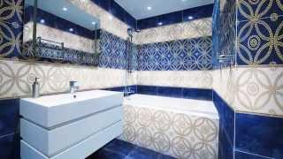 видео Синяя плитка для ванной