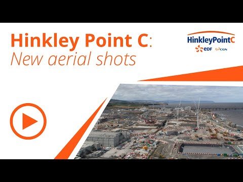 Latest aerial shots of Hinkley Point C