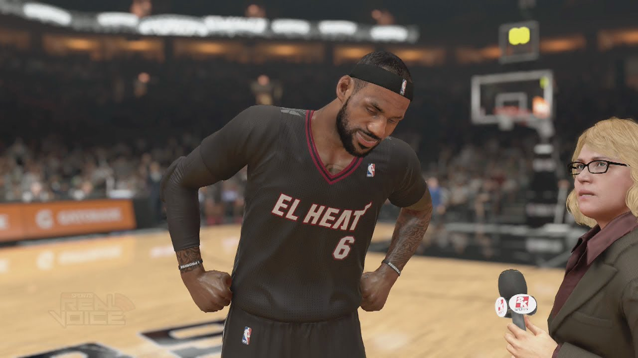Nba 2k14 (ps4) El Heat Vs Los Spurs (new Latin Night