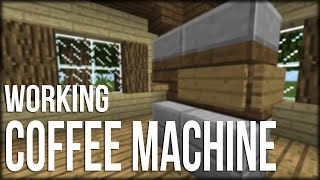 Minecraft:Pocket Edition Working Coffee Machine Tutorial