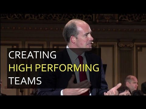 Harvard Conference Opening Remarks: Creating High Performing Teams