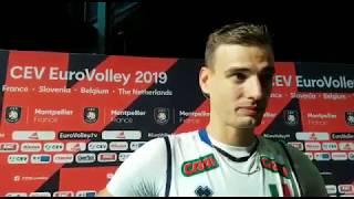 Campionati Europei maschili le dichiarazioni di Simone Giannelli al termine di Italia-Roma ...
