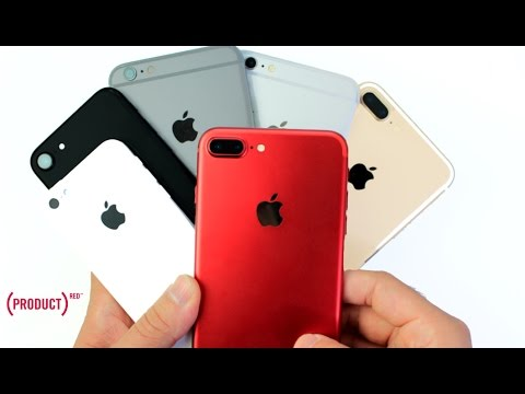 RED IPhone 7 Plus Unboxing Color Comparison