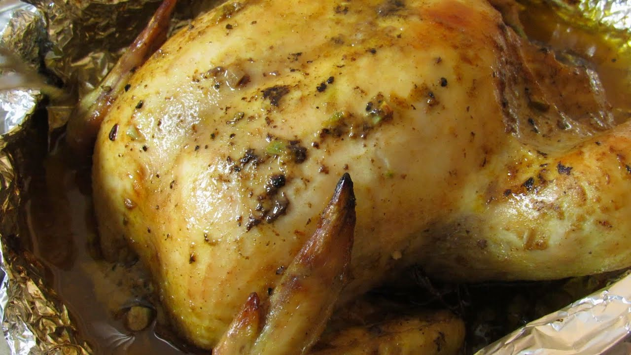Whole Roast Chicken Recipe  How To Make Baked Chicken With Garlic And  Mustard  Quick And Easy  Youtube