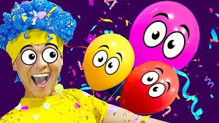 Learn Colors with Funny Balloons   D Billions Kids Songs