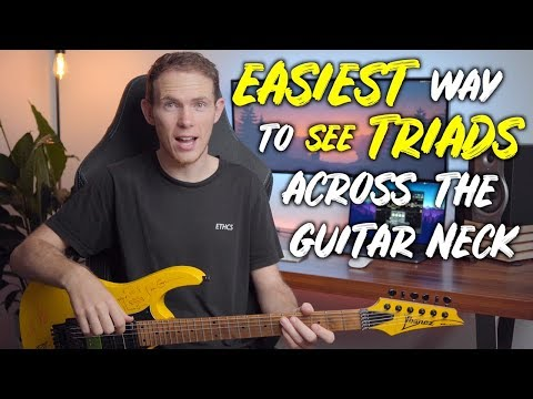 How To EASILY Visualise TRIADS On Your Guitar Neck | The CAGED System Approach