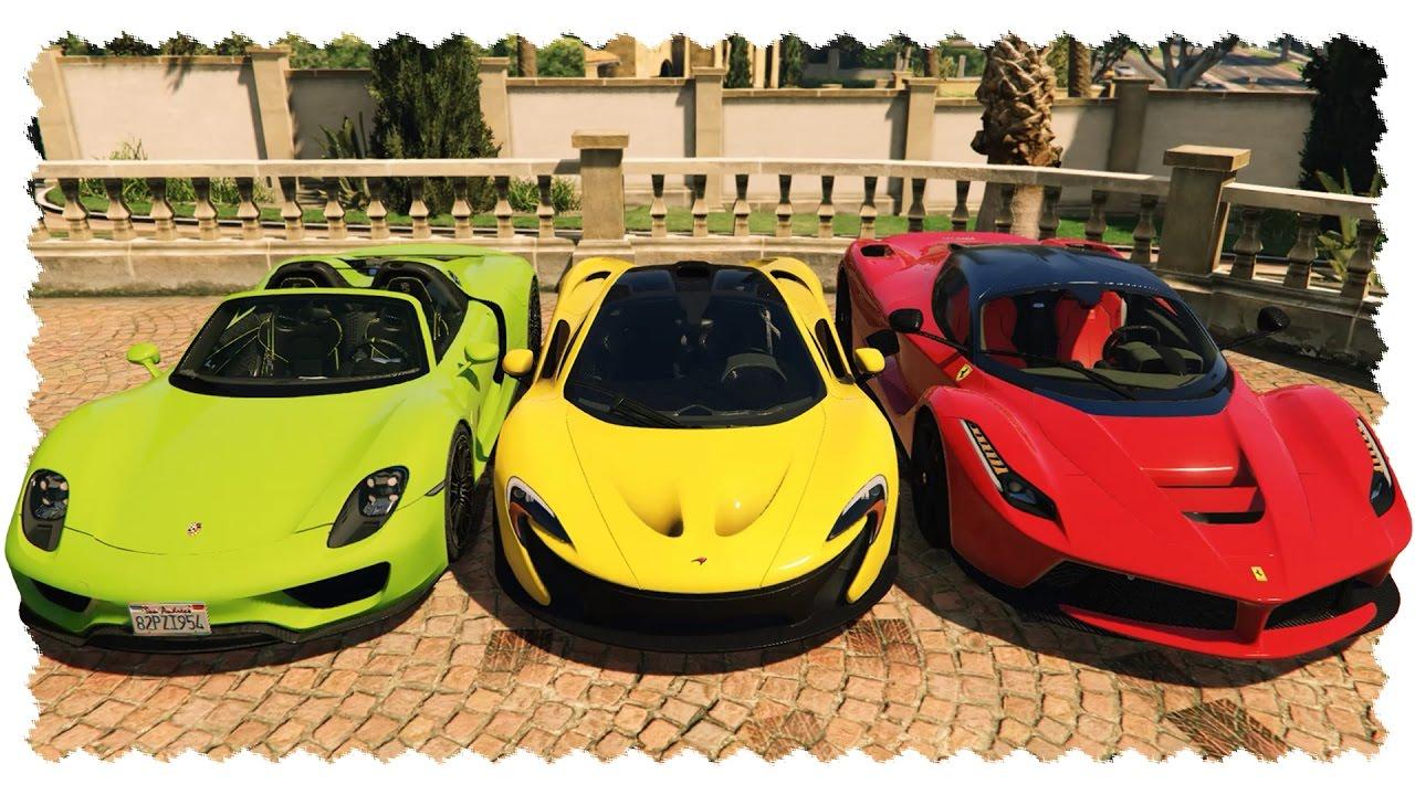 Customizable Hyper Cars Laferrari Spyder Gta Real