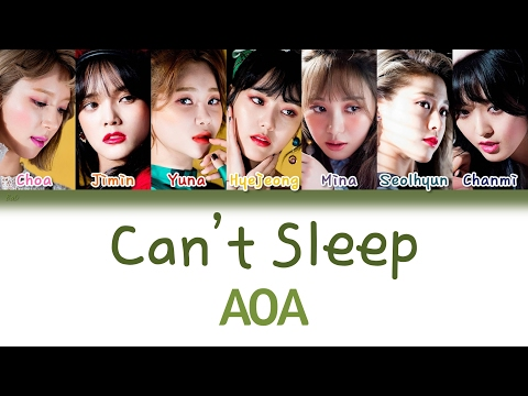 AOA (에이오에이) - Can't Sleep (불면증) | Han/Rom/Eng | Color Coded Lyrics |