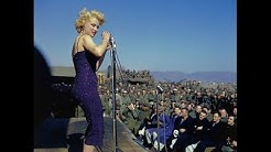Rare Footage Of Marilyn Monroe Entertaining The Troops On Stage In Korea 1954