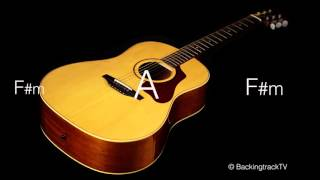 Pop Ballad Guitar Backing Track in A Major / F# Minor