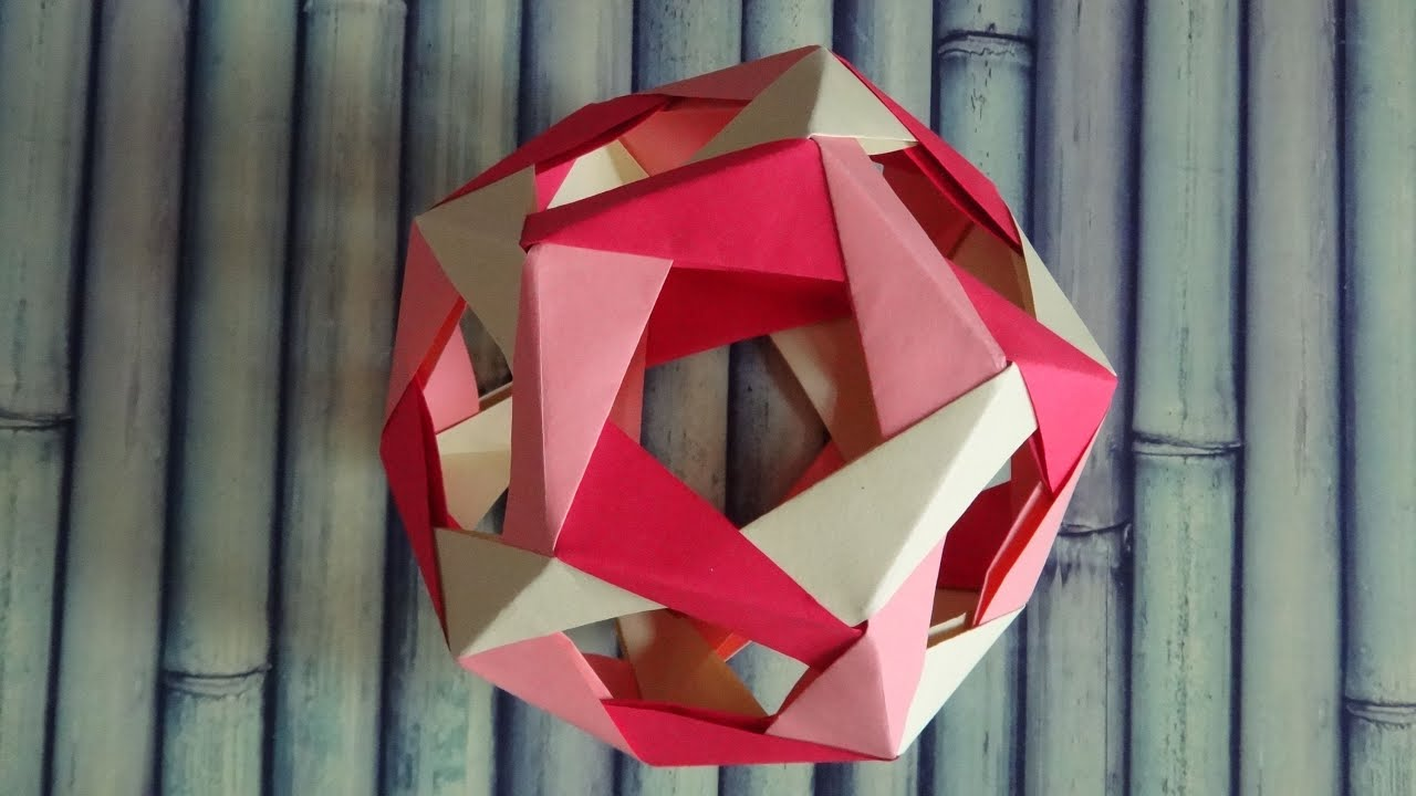 tutoriel dodecaedre origami