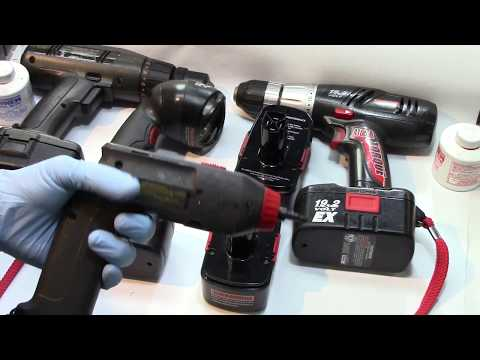 How to use Harbor Freight NiCd batteries to rebuild other battery packs (Craftsman 19.2v)