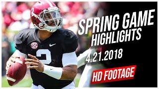 Jalen Hurts Alabama Spring Game Full Highlights || 4.21.2018