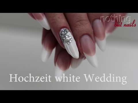 Hochzeitsnägel white wedding french & design   nothing but nails