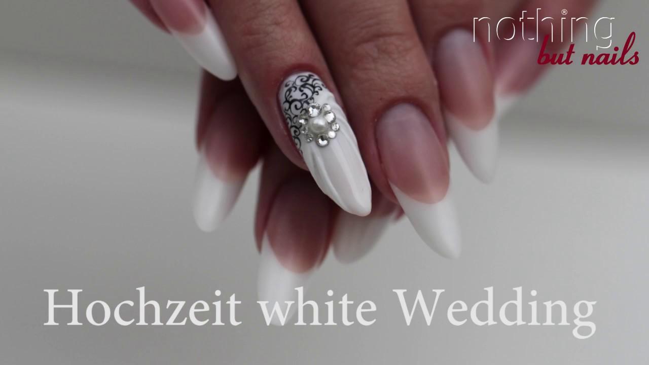 Hochzeitsnagel White Wedding French Design Nothing But Nails Youtube
