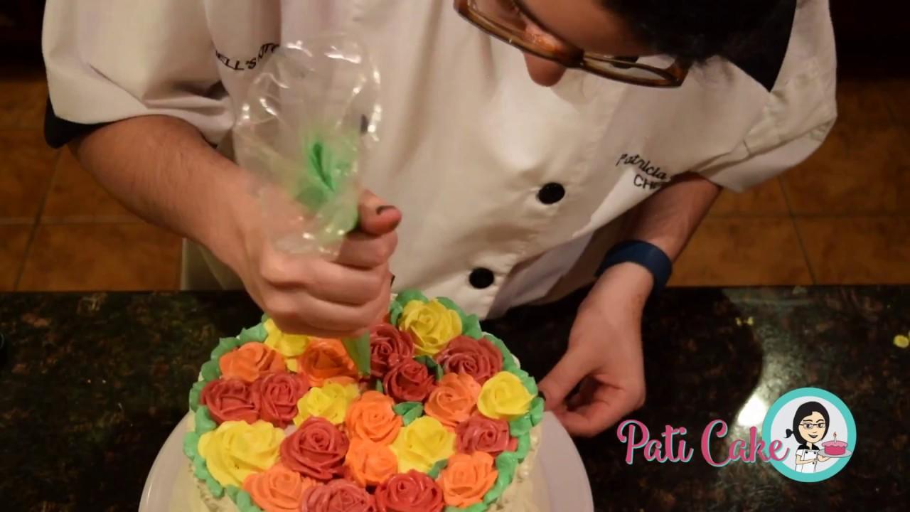Rose Garden Cake | Pati Cake Speed Decorating