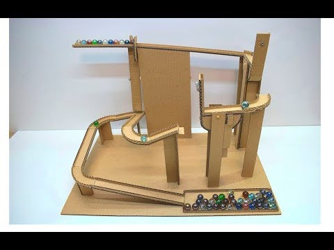 how to make marble run from cardboard board game marble labyrinth from cardboard youtube. Black Bedroom Furniture Sets. Home Design Ideas