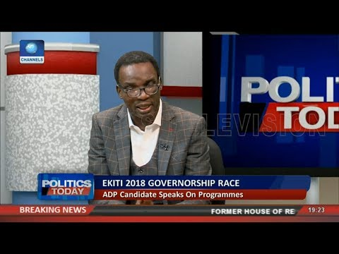 ADP Ekiti Governorship Candidate Speaks On Programmes | Politics Today |