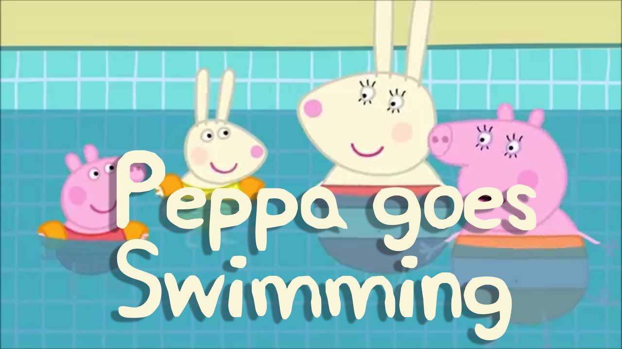 Peppa Pig Story Peppa Goes Swimming Youtube