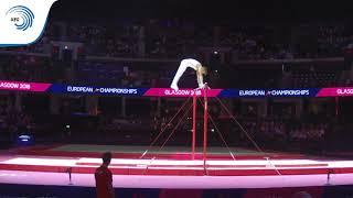 Mattis BOUCHET (BEL) - 2018 Artistic Gymnastics Europeans, junior high bar final