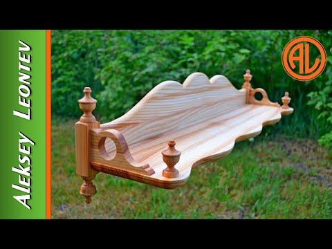 Полка деревянная настенная. Мебель из дерева / Wooden Wall Shelf