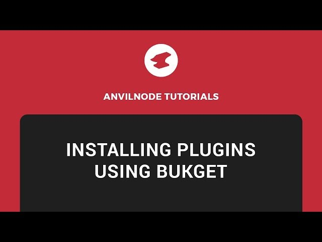 How to install plugins using bukget twitch tutorials to grow how to install plugins using bukget twitch tutorials to grow your following sciox Images