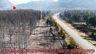 Ya son 300 las hectáreas quemadas por el fuego