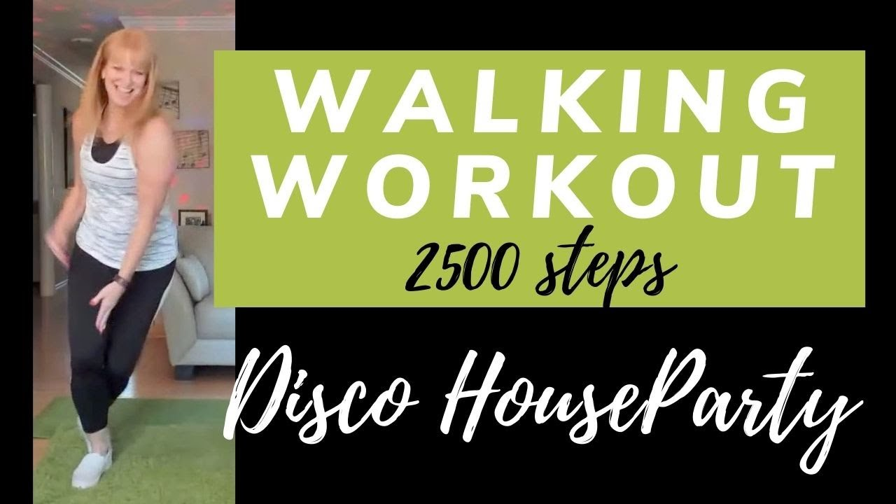 Disco House Party Walking Workout | 2500 steps in 20 minutes | Disco Dance Exercise, Walk at Home