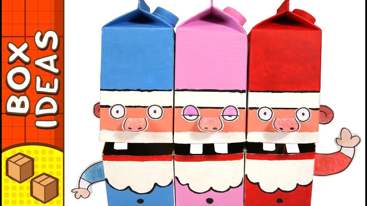 Cardboard Singing Santa's | DIY Christmas Crafts For Kids ... - photo#37