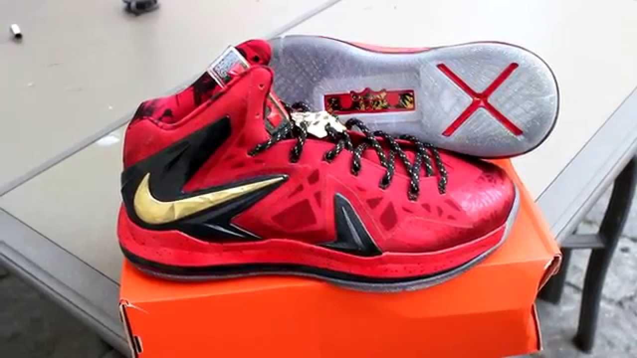 Nike LeBron 10 Elite Championship Pack High- 1080p HD ... Lebron 10 Championship Red