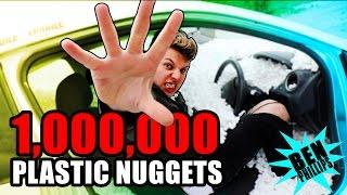 I put 1,000,000 nuggets in my bro's car! **PRANK!**
