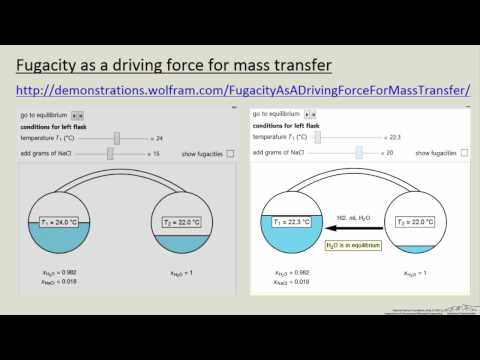 Fugacity as a Driving Force for Mass Transfer (Interactive Simulation)