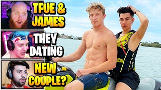 Streamers React To TFUE *DATING* JAMES CHARLES | Fortnite Daily Funny Moments Ep.544
