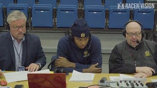 Racer Men's Basketball - at EIU 1-17-19 KJ Williams Postgame