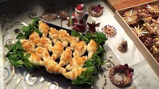 Мини-❖КРУАССАНЫ с ЛОСОСЕМ ❖-праздничная ЗАКУСКА-Лучший Рецепт