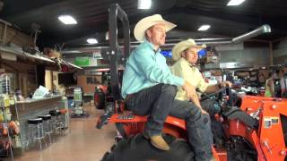Amazing Race stars Cord and Jet McCoy in GP Kubota commercial cuts