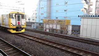 E257系500番台臨時特急 北総江戸紀行号 市川駅通過シーン