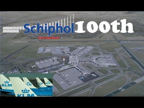 100th anniversary Amsterdam Airport Schiphol