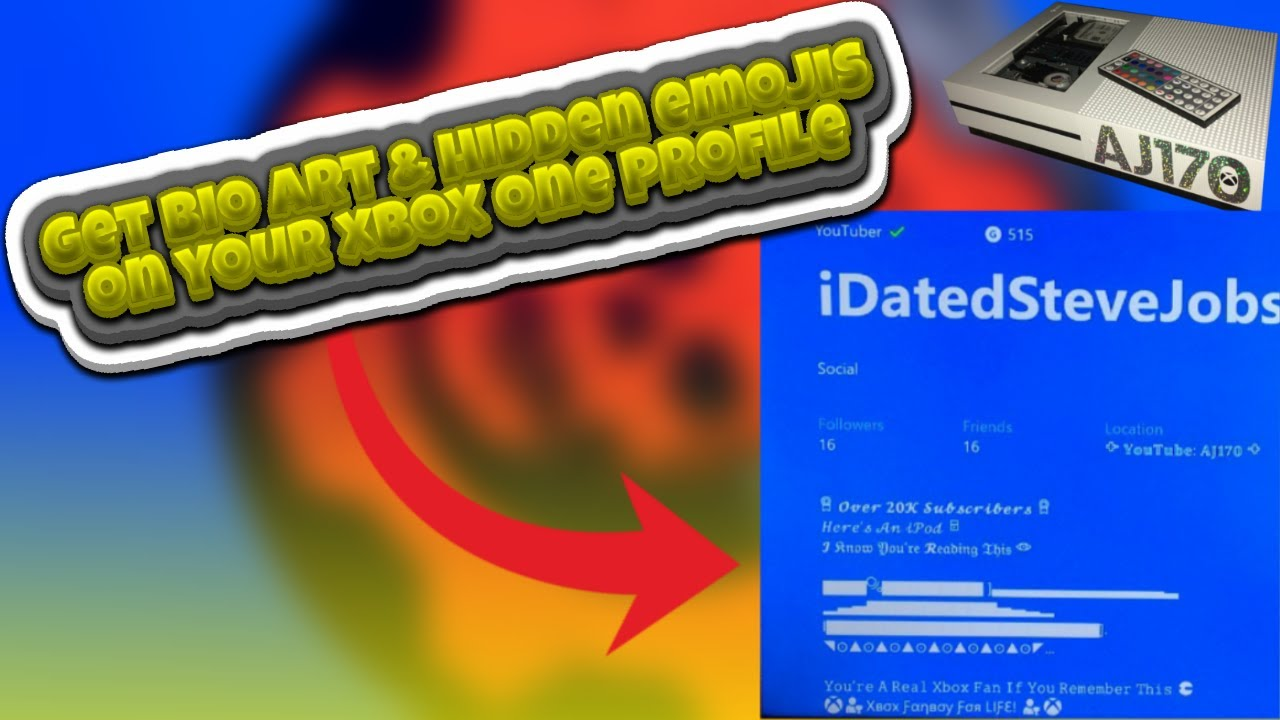 How To Get Bio Art & Secret Emojis & Custom Font & Zalgo On Your Xbox One  Profile! NO PC!