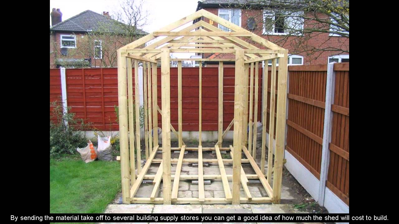 8 X 10 Shed Plans Youtube