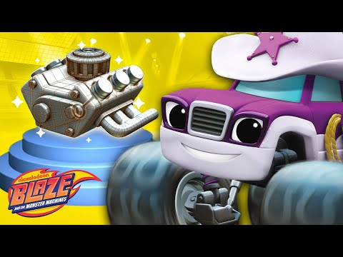 Learn About Engines w/ Blaze & Starla | Truck Talk #2 | Blaz