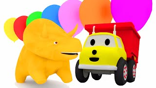 Learn colors with Dino the Dinosaur and Ethan the Dump Truck | Education cartoon for children