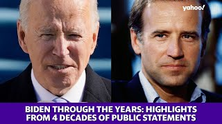 Biden through the years: Highlights from speeches and statements during 50 years of public service